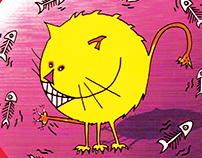 Color drawings IX - Boneless Cat