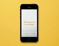 The History of Everything App