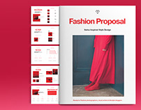 Red and Black Fashion Brochure Template