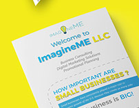 "Trifold Brocure Design ""ImagineME LLC"" © 2017"