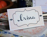 Menu and Placecards for Bridal Shower Brunch