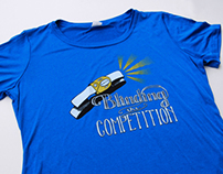 Blinding the Competition - Hand Lettered T-shirt Design