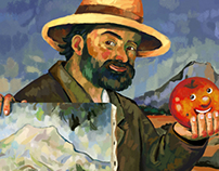 Cezanne and his paintbrush