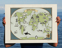 Whimsical World Map