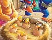 illustration child the duck