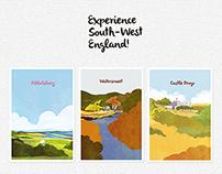 Walking Tour Map Illustration and Design