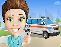 Nurse Cartoon Character