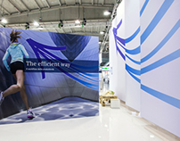 Siemens Industry exhibition design and build set up