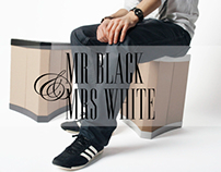 Mr Black & Mrs White - All-round cardboard furniture