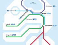 BodyRail Transit Map