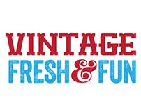 Vintage Fresh & Fun logo design