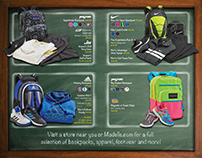 Modell's Back To School Direct Mailer And POP