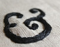 Ampersand - embroidered typography