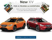 WebApp for Subarú Perú · New XV | August 2013
