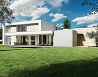 Italian Villa with marble facade