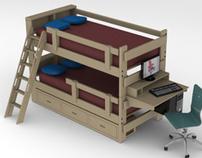 Twin/Twin Bunk Bed - 2 x 6 Ponderosa Pine
