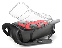 Python slimpack, gray-red