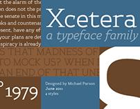 Xcetera typeface