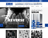 ZIRH website design