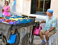 Nikosia (Lefkosa) - People, Animals, Fruits