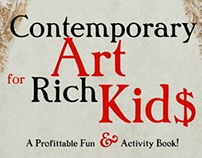 "Ads for my book ""Contemporary Art for Rich Kids"""