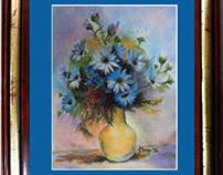 Vase and blue harmony (Florero y la armonía del azul)