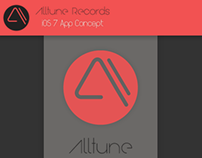 Alltune Records iOS 7 app Concept