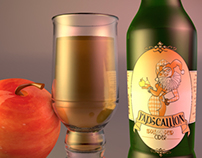 3D Render of Rapscallion Cider - Product Shot
