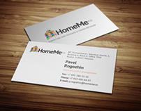 Business card for HomeMe