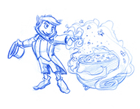 Video Gaming Technologies character sketch explorations