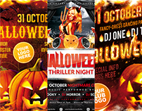 Halloween Party Poster Bundle, PSD Template