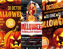 Halloween Party Poster Bundle, PSD Template