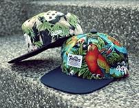 Filter017 RD Fabric Snapback Cap ( Panda & Parrot )