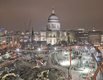 London Views over construction sites