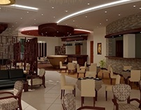Restaurant interior rendering for MIK