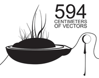 594 centimeters of vectors