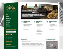 All Star Financial Website, Social Media and Newsletter