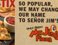 Mr. Jim's Pizza Rebranding