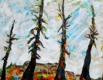 From Tree Lines: Mixed Media Landscapes by Mickey Bond