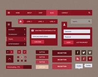 Dolce Blog Flat UI Set
