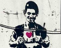 I love corruption Stencil