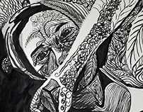 Pen and ink portraits