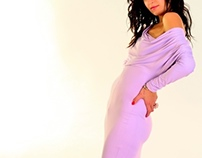 Purple Glow -dress