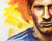"""MESSI - CHOOSE TO BELIEVE"" BOOK COVER ART"