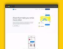GoGo - Free Bootstrap template for chatbot landing page on Behance
