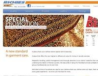 richieslaundry.com Website