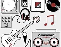 Musically Inspired Original Vector Art