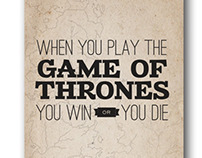 Game of Thrones Typographic Posters
