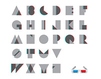 3D ANAGLYPH TYPEFACE