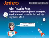 JanineXD.com Portfolio Design